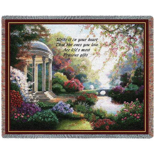 Precious Gifts flower garden tapestry throw blanket