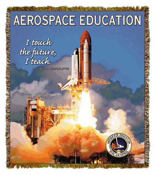 Aerospace Education tapestry throw blanket; science teacher gift, universe, earth