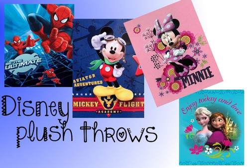 Plush Disney throw blankets for the kids and young at heart