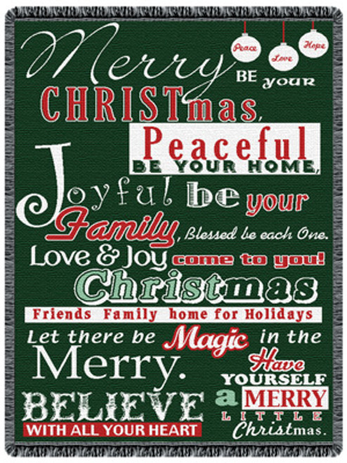Believe in Christmas with our beautiful holiday tapestry throw blanket-inspirational gift giving
