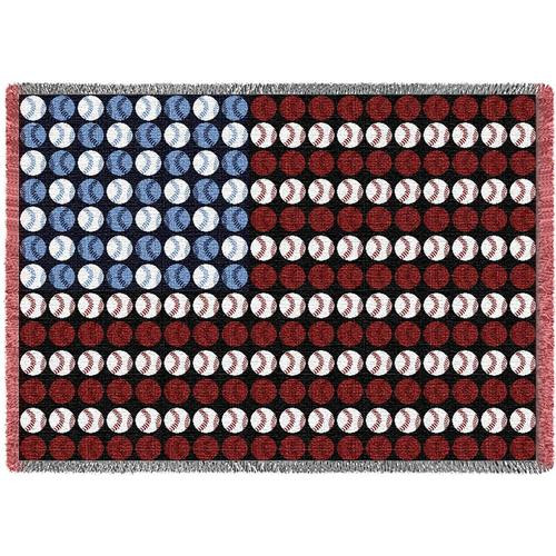 Baseball Flag patriotic tapestry throw blanket- sports design