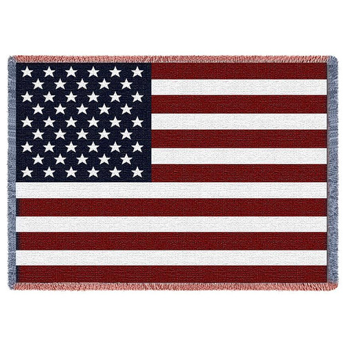 Small United States Flag tapestry throw blanket- patriotic pride