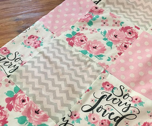So Loved rose plush throw blanket for a special girl