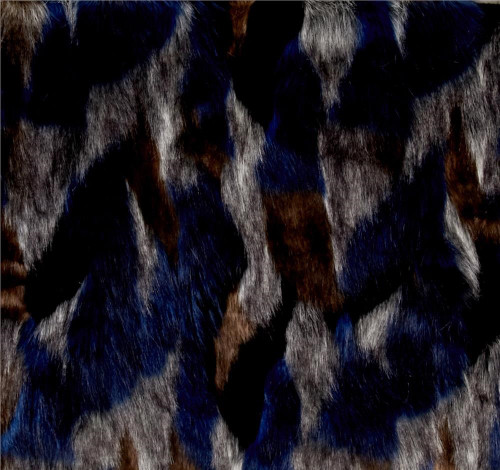 Midnight blue/black/brown/gray faux fur throw blanket- Elegant warmth