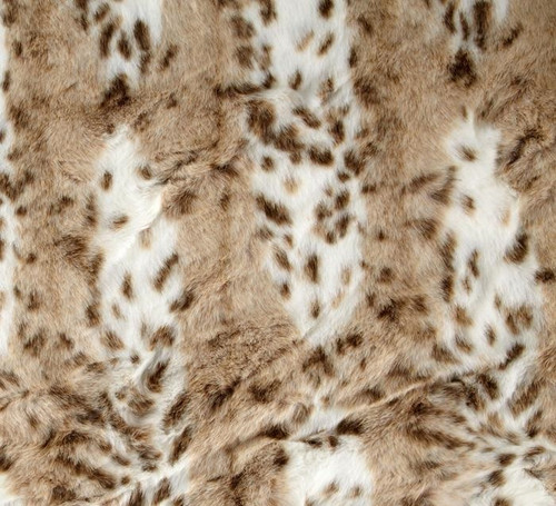 Super luxurious beige leopard faux fur throw blanket, Elegant warmth in a gorgeous animal print