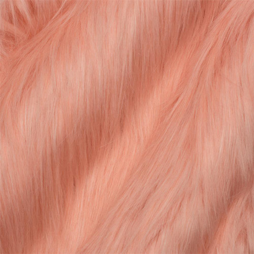 Afghan Hound Coral faux fur throw blanket; unique flamingo plumage color