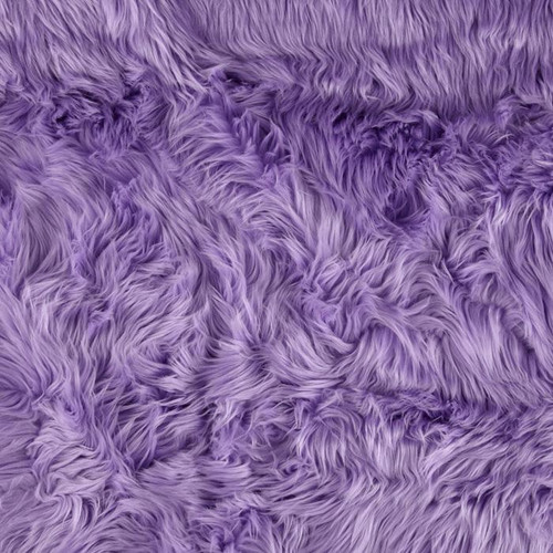 Luxury Lavender Shag faux fur throw blanket, purple goodness
