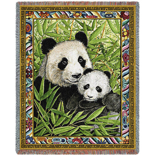 Panda Bear tapestry throw blanket