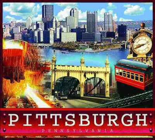 Pittsburgh Pennsylvania tapestry throw blanket featuring Duquesne Incline, City skyline, bridges and metal works