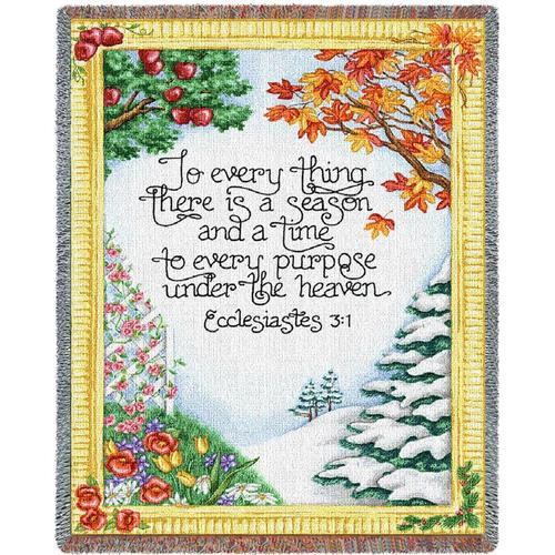 To Everything there is a Season, Ecclesiastes Inspirational tapestry throw blanket