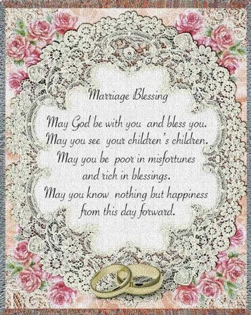 Marriage Blessing inspirational tapestry throw blanket
