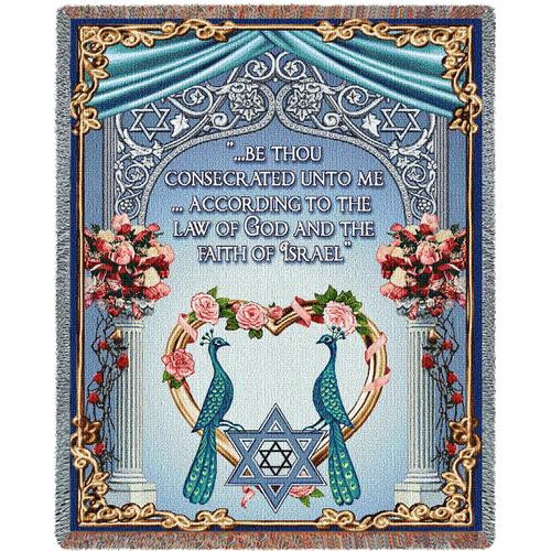 Jewish Wedding tapestry throw blanket- Inspirational Scripture
