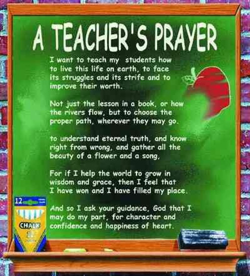 Teacher's prayer- stock image