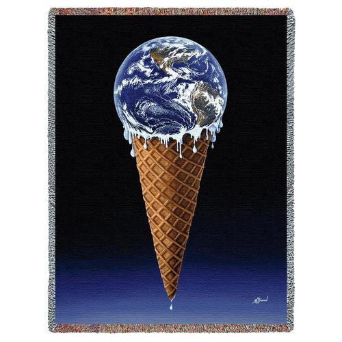 Savor Life with our ice cream inspired tapestry throw blanket