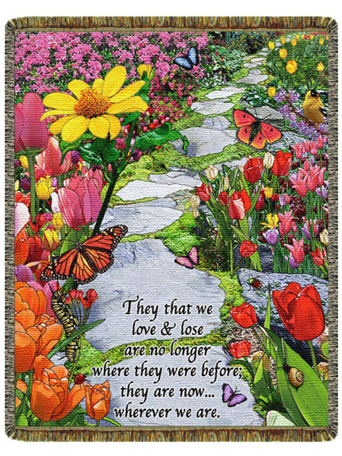 Bright and colorful memorial tapestry throw blanket, They That We Love