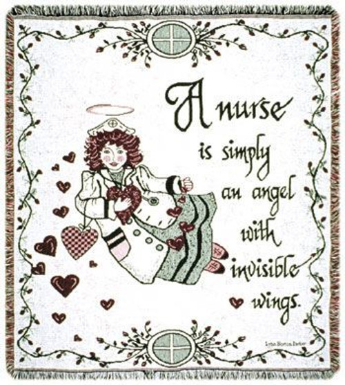 Nurse gift- inspirational tapestry throw blanket