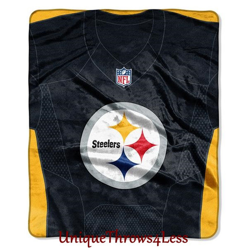 Pittsburgh Steelers Plush NFL Jersey Logo Throw Blanket