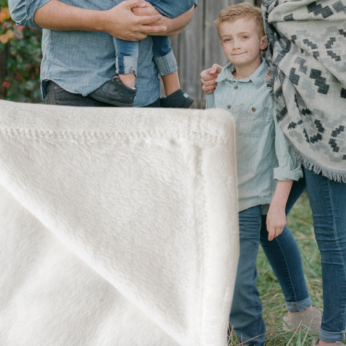 Plush Photo Throw Blanket-coral fleece