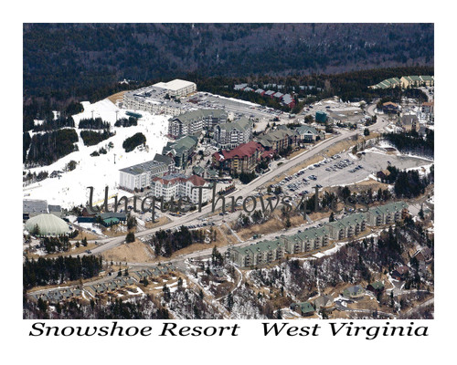 Snowshoe Resort, West Virginia on soft photo throw blankets