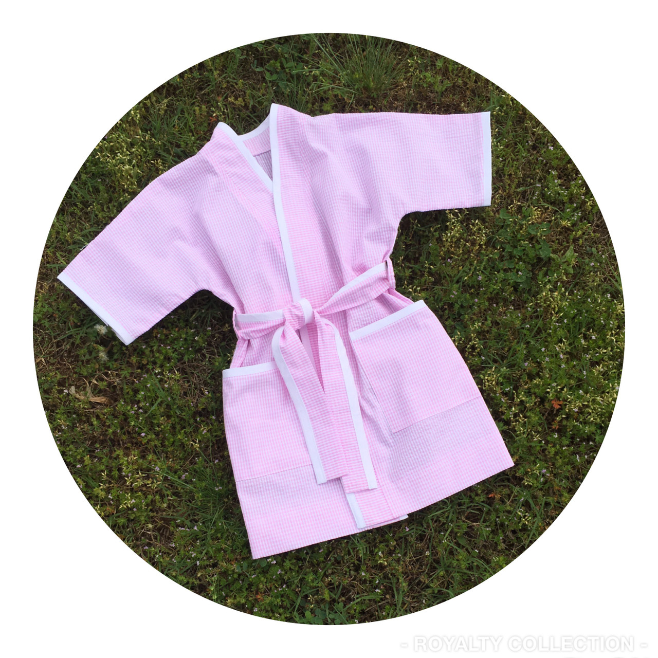 Child Spa Robe-Seersucker - The Royalty Collection