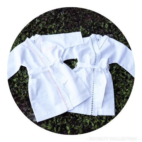 Child Spa Robe w/ Trim