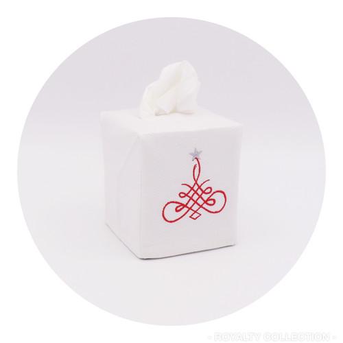 Cotton pique tissue box cover.