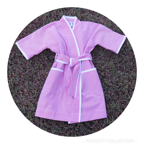 Adult Spa Robe - Short Seersucker