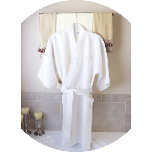 Premium Waterford  White Linen Spa Robe