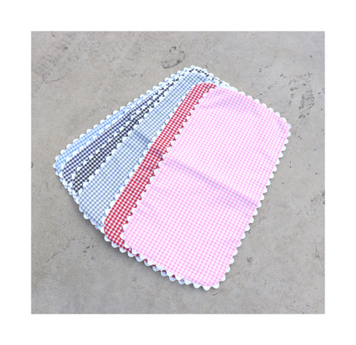 Gingham Baby Burp Cloth