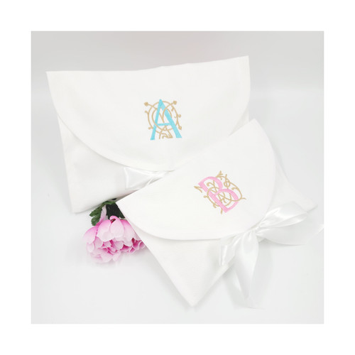 Large and medium cotton pique gift bag.