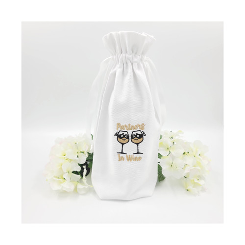 Cotton Pique Wine Bag