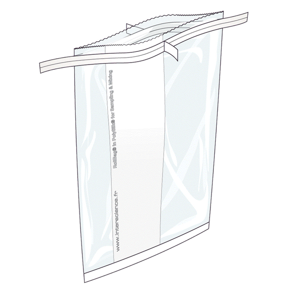 Lab Blender Sampling Bags with reinforced seal closure 500 per box, 1300mL