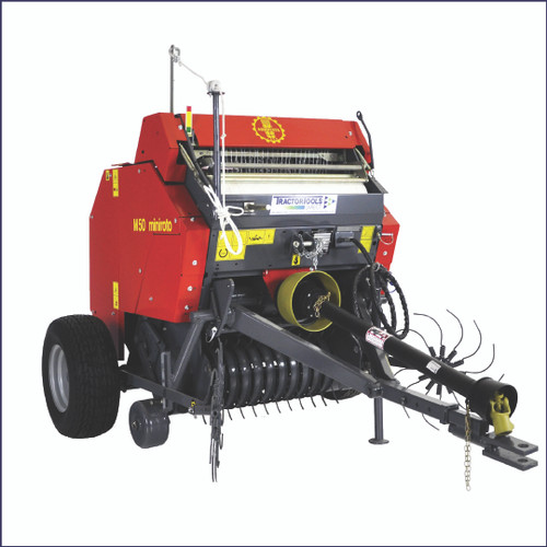 TX48 Mini Round Baler with Net Wrap, Central Drawbar, and Gathering Wheels by Abbriata