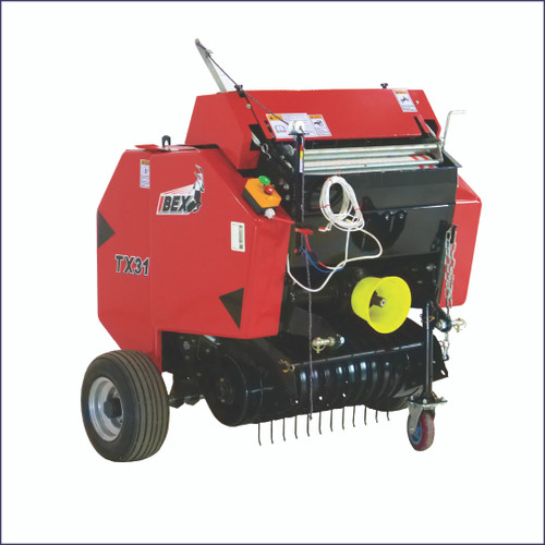 Ibex TX31 Mini Round Baler with Net Wrap & Push Button Tailgate