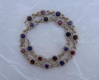 Nadri Art Deco Mughal Style Jeweled Collar Necklace Fabulous Simulated Gemstones