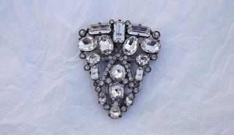 Huge Eisenberg Original Art Deco Dress Clip Gorgeous Brooch