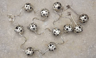 Artist Retro Art Moderne Sterling Silver Abstract Modernist Necklace Earrings Spheres Circles