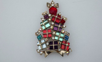 2007 Avon Christmas Tree Pin Collectors Xmas Brooch Gifts 4th Annual Excellent