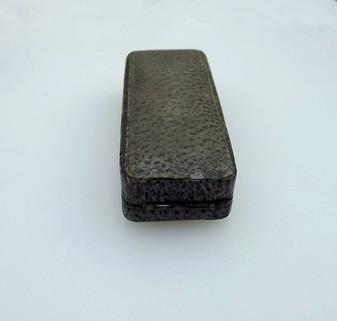 Antique Faux Shagreen Jewelry Presentation Box For Victorian Cravat Stick Pin Ascot Tie