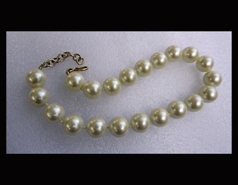 Vintage Monet Huge Pearls Necklace 18mm Hand Knotted Big Pearly Strand Fabulous Old Costume Jewelry