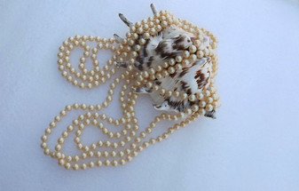 """Vintage Longest  Rope Length Pearl Necklace  156"""" Long Glass Pearls 7.5mm All Hand Knotted Heavy Gorgeous Old Costume Jewelry"""