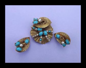 ORIGINAL By ROBERT Demi Parure Dreamy Zen Organic Lily Pad Russian Gold Plated
