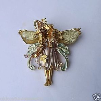 RETIRED KIRKS FOLLY PRIMROSE THE FLOWER FAIRY PIN in BOX with PAPERS & STORY~QQ