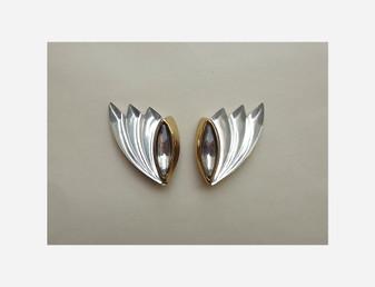1980'S Sweeping Lucite Earrings Cowled Hoodie, Alien Monk, GOLDEN GIRLS
