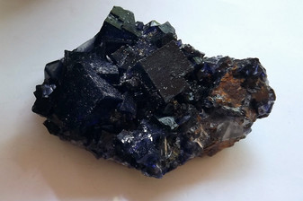 BIG Deep Purple Fluorite Cubes on Sphalerite Elmwood Mine Gorgeous!