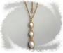 Vintage Jewelry For Her Trifari Pendant Past Present Future Design Glass Pearl Cabs Necklace In Original  Box