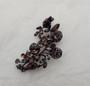 Vintage Schreiner Smoky Topaz Trembler Pin 3 Flower Spray Brooch Pendant Combo