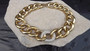 Vintage Givenchy Collar Necklace Huge Gold Links Rhinestone Center 80's Iconic