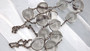 Vintage Pools Of Light Necklace Rock Quartz Spheres In Sterling Silver 13mm Orbs