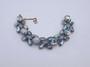 Schiaparelli Vintage Bracelet AB Rhinestones Big Ribbed Glass Cabochons